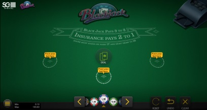 Klasszikus blackjack demo