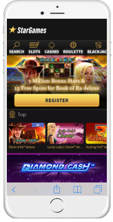 Stargames Mobile Landingpage