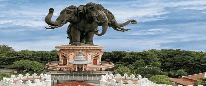 Three headed elephant