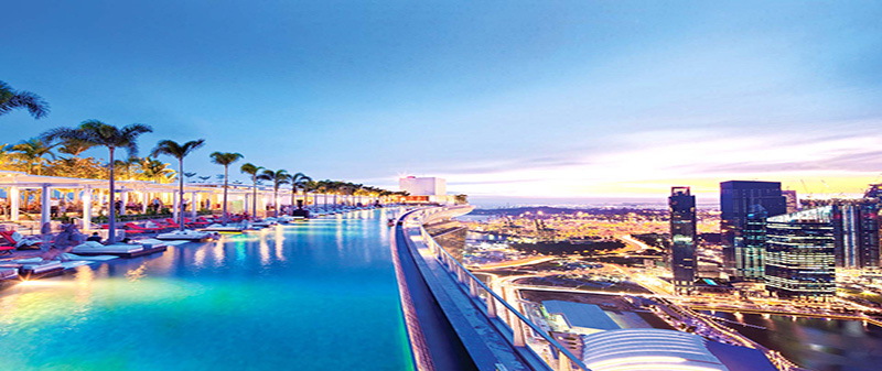 Infinity pool in Singapore, Marina Sands Bay