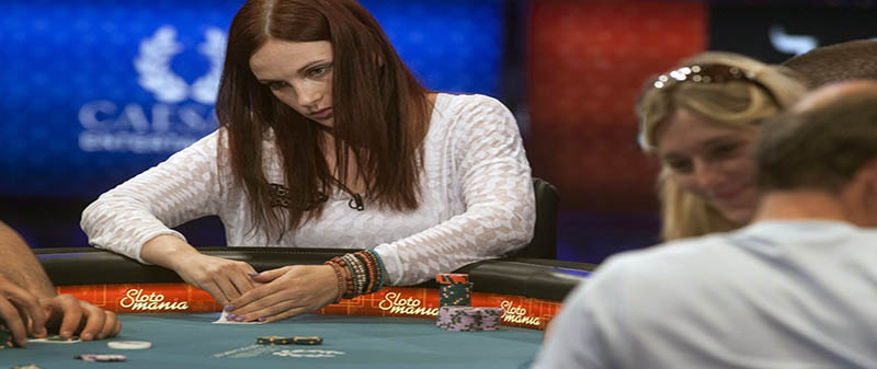 Women at the poker table